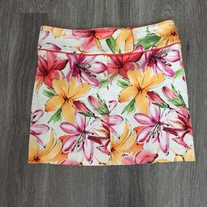 Cache Floral Mini Skirt